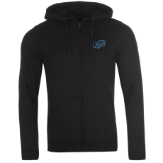 Oneill Logo férfi kapucnis cipzáras pulóver fekete XL