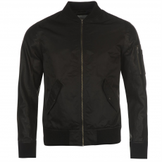 Jack and Jones Core Mike PU férfi bomber dzseki fekete M