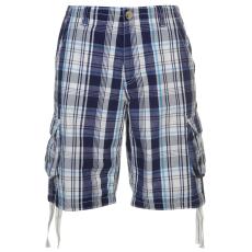 SoulCal Férfi kockás zsebes rövidnadrág kék XS