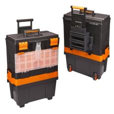Húzható, többrészes műanyag szerszámláda 460 x 330 x 800 mm