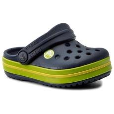 CROCS Papucs CROCS - Crocband Clog K 204537 Navy/Volt Green