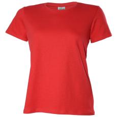 KEYA Női környakas pamut póló, piros