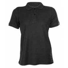 KEYA Női galléros piké póló, fekete