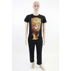 Férfi pamut póló - oroszlán