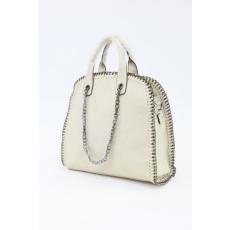 Törtfehér színű női láncos táska