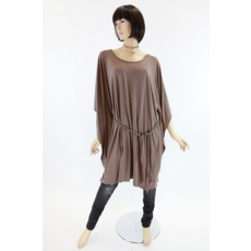 Barna színű, kötős, egyedi szabású női ruha