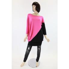 Pink-fekete női felső / ruha