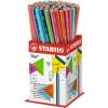 Ceruza, 2B, háromszögletű, vékony, STABILO Trio, pink test (369/01-2B)
