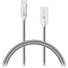 Connect IT Wirez Steel Knight USB-C 1m, metallic silver