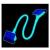 Sharkoon Floppy 45cm UV-Aktív Kék  (ID-CF45S01)
