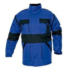 Cerva MAX téli kabát párnázott kék/fekete L