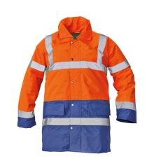 Cerva SEFTON kabát HV narancssárga/royal XL