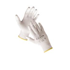 Cerva LARK ujjbegymártott nylon kesztyű - 10