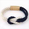 egyéb Elegáns Unisex Textil Karkötő - Kék - Fehér