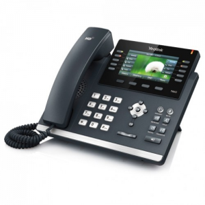 """Yealink SIP-T46G Yealink SIP-T46G - VoIP phone SIP-T46G - 4.3"""" 480 x 272, USB, Dual-port Gigabit Ethernet, Up to 6 SIP accounts, PoE, Wall Mountable"""