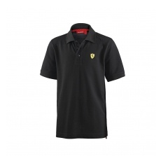 Branded Ferrari gyerek galléros póló Classic black small F1 Team - 104 cm (kids)