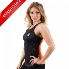 MARIANNA TANK TOP - BLACK/NEON ORANGE (BLACK/ORANGE) [L]