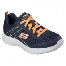 Skechers Burst-Second Wind gyerek sportcipő, Blue/Orange, 36 (97300L-NVOR-36)
