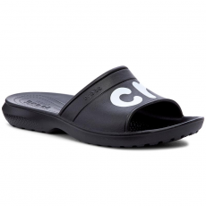CROCS Papucs CROCS - Classic Graphic Slide 204465 Black/White