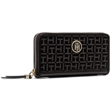 Tommy Hilfiger Nagy női pénztárca TOMMY HILFIGER - Th Essentials Large Z/A Wallet AW0AW04163 Black 902