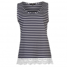 Mystify Top felső Rock and Rags Stripe Crochet női