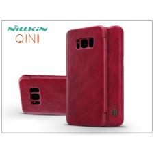 Nillkin Samsung G955F Galaxy S8 Plus oldalra nyíló flipes tok - Nillkin Qin - piros tok és táska
