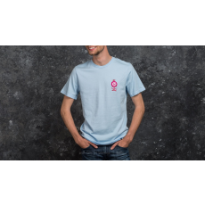 HUF x Pink Panther Shortsleeve Pink Ball Tee Washed Light Blue