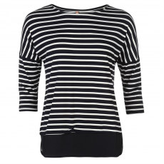 Rock and Rags Top felső Rock and Rags Striped Chiffon Hem fér.