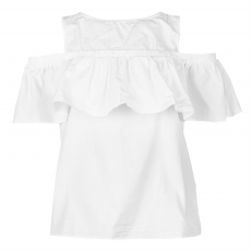 Rock and Rags Top felső Rock and Rags Cotton Frill Bardot női