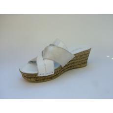 Walk : Fehér magastalpú papucs
