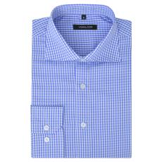 Fehér és világoskék XXL méretű férfi üzleti ing