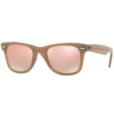 Ray-Ban RB4340 61667Y WAYFARER BEIGE GREY GRADIENT BROWN MIRROR PINK napszemüveg