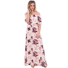 Boho virág mintás maxi ruha