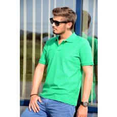 KEYA galléros piké póló, zöld (Keya férfi galléros piké póló, 100% pamut piké anyag, 180g/m2.)