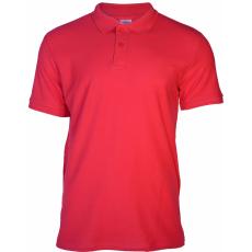KEYA galléros piké póló, piros (Keya férfi galléros piké póló, 100% pamut piké anyag, 180g/m2.)