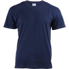 KEYA unisex pamut póló, deep navy (Keya unisex környakas pamut póló, 180g/m2, 100% gyűrü fonásu pamut.)