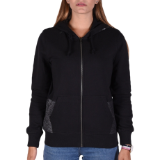 Converse Metallic Fz Hoodie női cipzáras pulóver fekete S