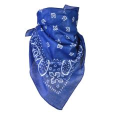 Törökmintás pamutkendő, kék