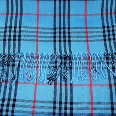 Kockás-csíkos sál, kék