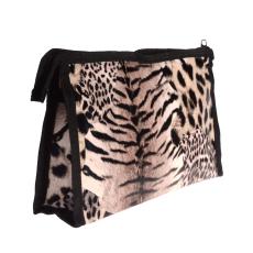 Leopárd kozmetikai táska, bézs