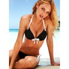 Fekete-fehér push up bikini-Large