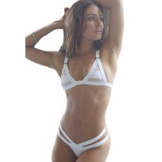 Fehér Sexy Áttetsző Bikini-Small