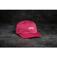 STUSSY Smooth Stock Low Cap Red