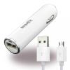 Konkis USB autós töltő 1A + Micro USB kábel, fehér
