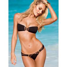 Fekete Pántnélküli Bikini-Large