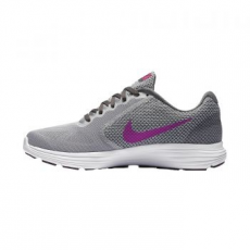 Nike Revolution 3 női sportcipő, Wolf Grey/Orange, 35.5 (819303-009-5)