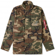 Alpha Industries HUNTINGTON DRAGON - wood camo