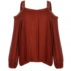 Rock and Rags Top felső Rock and Rags Lace Cold Shoulder Blouse női