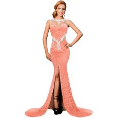 Csakcsajok Narancs csipkés glamour maxi ruha