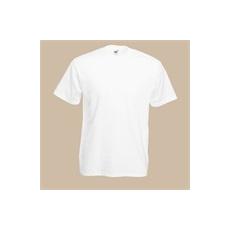 póló fehér kereknyakú 100% pamut (XL)